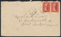 Lot 2721:1931 use of 2d SS Caribou (SG 180) on cover to USA, cancelled with unframed 'RIVERHEAD.HR.GRACE/DE15/31/NEWF'D' (B1).