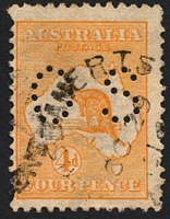 Lot 158:4d Orange BW #15bb