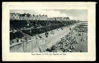 Lot 366 [1 of 2]:Great Britain: photo PPC of 'East Beach & Cliffs (1) Clacton-on-Sea.', ½d cancelled with double-circle 'CLACTON-ON-SEA/1245PM/JY29/12/+' (B1).