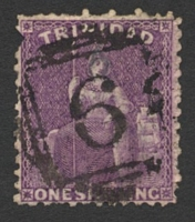 Lot 21562:6: of Arouca on 1/- bright deep mauve. [Rated 200 by Proud]