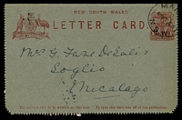 Lot 811:1911 Text on Back 1d Arms HG A9, cancelled with 'MAN[LY]