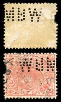 Lot 8781:Metropolitan Board Of Works: 'MBW' type #MBW.1 on 1d pink (faults).