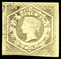 Lot 797:1854-59 Imperf Large Diadems Wmk Double-Lined Numeral SG #96a