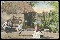 Lot 123:Jamaica: Valentine's coloured PPC of 'A NEGRO HUT, JAMAICA', unused.