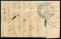 Lot 16914 [2 of 2]:1833 stampless entire cancelled with double-circle '[?]E VIGAN[DE]/10/JUIN/[1833]/(29)' (B2), nice blue double-circle 'ST HIPPOLYTE-DU-FORT