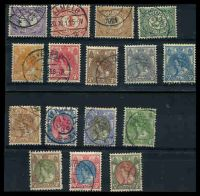 Lot 19841:1899-1923 Small Queen Wilhelmina SG #167-92 all different selection from ½c to 50c lake & bronze-green. (16)