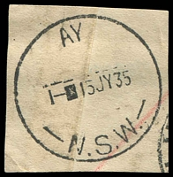 Lot 2956:Maroubra: cut-down relief '  AY  /1-■15JY35/N.S.W.'. [Allocation recorded by past owner.]  PO 1/3/1915.