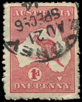 Lot 148:1d Red Die IIA [HL24] Scratch through base of right leg of last A of AUSTRALIA