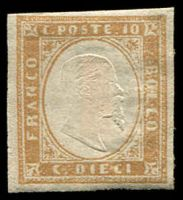 Lot 3222:1855-63 Victor Emmanuel II Embossed SG #38