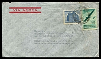 Lot 2642:1948 (Sep 29) use of 35c GPO & 1p25 Air on air cover to Melbourne.
