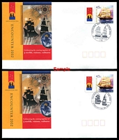 Lot 726:2002 Encounter set of 17 covers with different cds cancelling 45c Ship P-Stamp
