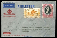 Lot 761 [1 of 2]:1953 QE II Coronation Day Flight AAMC #1318a