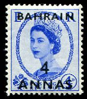 Lot 10129:1952-54 QEII SG #86 4a on 4d ultramarine, Cat £18.