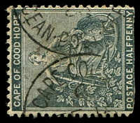 Lot 3519:Ocean Post Office: 22mm framed 'CAPE COL[ONY]/C/FE16/[?]/[O]CEAN·POST·OFF[ICE]