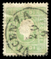 Lot 10078:1858 New Currency Type II SG #18B 3s green, small tear at right, Cat £80
