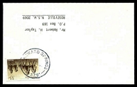Lot 2438:Howard Springs: 'HOWARD SPRINGS/?30?19JE86/1/NT-5791' on 33c on Taylor cover.  PO 2/4/1979.