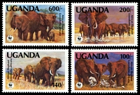 Lot 3577:1991 Elephants SG #988-91