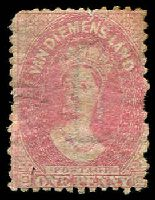 Lot 3362:1863-71 Chalon Wmk Double-Lined Numeral Walsh & Sons Perf 12 SG #70 1d carmine P12, a little aged, MNG, Cat £95.