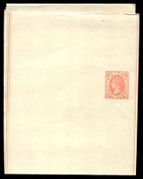 Lot 8735:1885 QV Without Watermark Stieg #E10 ½d rose on cream stock, fresh unused.