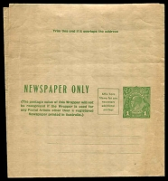 Lot 3088:1931-38 1d Green KGV Sideface Additional Postage Box BW #W19 unused.