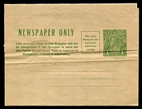 Lot 3089:1931-38 1d Green KGV Sideface Additional Postage Box BW #W19 unused, hinge on face.
