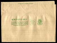 Lot 3091:1942-50 1½d Green KGVI Sideface BW #W22B thicker less glazed paper, fresh unused.