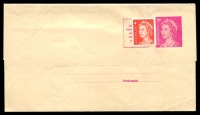 Lot 3095:1966-80 QEII Decimal BW #W28 7c magenta, uprated with 4c red (by PO?) for new 11c rate, unused.