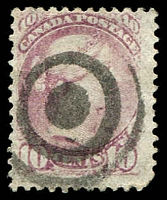 Lot 3230:1870-91 Small Heads Ottawa & Montreal Printings Perf 12 SG #87