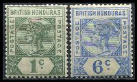 Lot 15747:1891-1901 QV Wmk Crown/CA SG #51,56 1c & 6c, Cat £17.