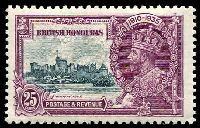 Lot 15748:1935 Silver Jubilee SG #146 25c slate & purple.