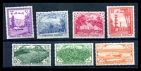 Lot 13785:1954 7th Independence Anniversary SG #65-71 set of 7, Cat £22.