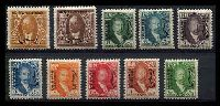 Lot 12641:1931 Issue SG #D93-102 ½a to 2r, Cat £83. (10)