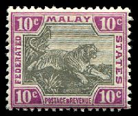Lot 12376:1904-22 Wmk Mult Crown CA SG #43b 10c black & claret, Cat £42.