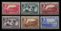 Lot 19816 [1 of 2]:1938-48 Pictorials SG #101-10 P13 complete set, ½d to 5/-, Cat £195. (10)