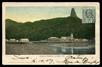 Lot 16758 [1 of 2]:1907 (Oct 16) use of ½d green KEVII on hand-coloured Arthur Mills PPC of 'Mission Station Loretto, Fiji', from Suva to Car Cavellos, Portugal.
