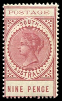 Lot 1396:1902-04 Thin 'POSTAGE' Perf 11½-12½ SG #273
