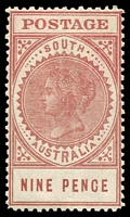 Lot 1402:1904-11 Thick 'POSTAGE' Wmk Crown/SA (Close) Perf 12 SG #286