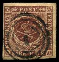 Lot 10209:1851-54 Thiele Printing SG #5 4rbs deep red-brown 4 even margins with POST retouched [II/5], Cat £500. Lovely appearance and condition.