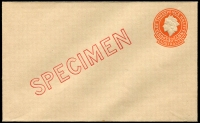Lot 562:1956 3½d Orange QEII Small Die BW #EP56w