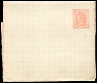 Lot 8734:1885 QV Without Watermark Stieg #E10 ½d rose on cream stock, unused, Cat $15.