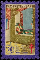 Lot 3:France 1946 Tuberculosis: 50fr 'large stamp' in 