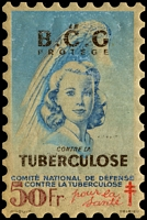 Lot 4:France 1948 Tuberculosis: 50fr 'large stamp' in 