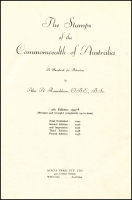 Lot 1052:Australia: The Stamps of the Commonwealth of Australia by Alec. A. Rosenblum published by Acacia Press Pty Ltd 1947-48 (5th ed) 279pp. Hardbound, fair condition.