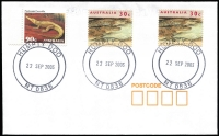 Lot 1322 [1 of 4]:1980s-2000s Accumulation: postmarks on piece (c.200) and 27 covers, generally fine strikes.
