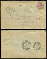 Lot 321 [1 of 4]:Cancels on Tatts covers (c.135), on PPCs and Postal cards (c.70) including some barred numerals and duplexes, majority 1890-1910. Duplication and mixed condition. (200+)