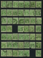 Lot 1136 [2 of 2]:Covers, Stamps and Stamps on Pieces: large accumulation on Hagners, packets etc. All states appear to be represented, 1880s - early 2000s with much KGV interest. Some numeral cancels sighted. Also 1d green KGV (c.1,000) on Hagners, postmarks removed, otherwise unchecked for varieties? Similar assortment of Roos with values to 5/-. Collection of various covers with some advertising interest. Sprinkling of overseas postmarks. Needs sorting. Condition generally fine. 2.8kg (1,000s)