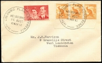 Lot 699:1962 Colombo Plan Conference of 17NOV62 (Final day) on cover with two strikes on ½d Roo triple & 3½d Royal Visit, typed addressed.