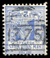 Lot 896:1375: BN on 2d blue. [Rated R]  Allocated to Hobby's Yards-RO 1/2/1879; PO 16/6/1887; TO 1/7/1980; closed 25/9/1982.