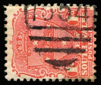 Lot 916:1554: '1554' BN on 1d Arms. [Rated 4R - more than lower half of numerals present.]  Allocated to Argent's Hill-RO 1/1/1889; PO 16/7/1890; TO 1/6/1971; closed 1/12/1979.