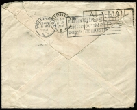 Lot 12042 [4 of 4]:1866 (May 16) large envelope roughly opened London-Marlborough with 4d vermilion Plate 7 SG #94 (c£200 on cover) tied London 'SW/19' duplex, backstamp single ring thimble arrival plus ornate red seal of Medical & General Life Insurance. PLUS 1931 (April 4) plain envelope England-Australia first fllght AAMC #187 from $100, forwarded to New Zealand, faults. (2)